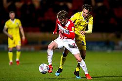 Kieran Sadlier of Doncaster Rovers takes on Edward Upson of Bristol Rovers - Mandatory by-line: Robbie Stephenson/JMP - 26/03/2019 - FOOTBALL - Keepmoat Stadium - Doncaster, England - Doncaster Rovers v Bristol Rovers - Sky Bet League One