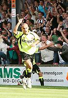 Photo: Steve Bond.<br />Scunthorpe United v Sheffield United. Coca Cola Championship. 01/09/2007. Dannyy Webber turns after scoring his second