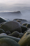 Otter Cliffs Boulder Beach, Bar Harbor, ME (US) shot at slow shutter speed to render water like soft mist