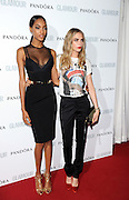 04.JUNE.2013. LONDON<br /> <br /> JOURDAN DUNN AND CARA DELEVINGNE ATTEND THE 2013 GLAMOUR AWARDS IN BERKLEY SQUARE.<br /> <br /> BYLINE: EDBIMAGEARCHIVE.CO.UK<br /> <br /> *THIS IMAGE IS STRICTLY FOR UK NEWSPAPERS AND MAGAZINES ONLY*<br /> *FOR WORLD WIDE SALES AND WEB USE PLEASE CONTACT EDBIMAGEARCHIVE - 0208 954 5968*
