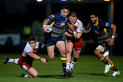 Bryce Heem of Worcester Warriors goes past Paul Hill of Northampton Saints and Dylan Hartley of Northampton Saints - Mandatory by-line: Robbie Stephenson/JMP - 21/12/2018 - RUGBY - Sixways Stadium - Worcester, England - Worcester Warriors v Northampton Saints - Gallagher Premiership