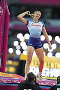 Holly Bradshaw 400m, during the IAAF World Championships at the London Stadium, London, England on 6 August 2017. Photo by Myriam Cawston.