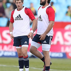 Baptiste Serin of France with Kevin Gourdon of France during the 1st test match between South Africa and France Loftus Versfeld stadium, Pretoria South Africa. 10th June 2017(Photo by Steve Haag Sports)