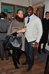 SOL & FIONA CAMPBELL at the Linley Christmas Party held at Linley, 60 Pimlico Road, London on 16th November 2011.