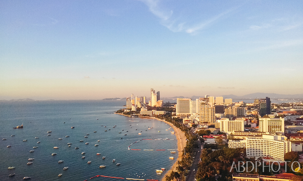Pattaya Chonburi sunset Hilton roof terrace
