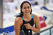 Alessia Poller of Italy after winning her semi-final of the 200m Butterfly during Day 13 of the 2016 LEN European Aquatics Championship Swimming Finals at the London Aquatics Centre, London, United Kingdom on 21 May 2016. Photo by Martin Cole.