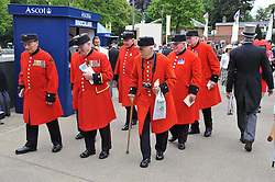 CHELSEA PENSIONERS at day 2 of the 2011 Royal Ascot Racing festival at Ascot Racecourse, Ascot, Berkshire on 15th June 2011.