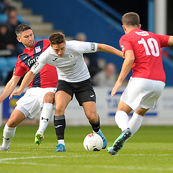 TELFORD COPYRIGHT MIKE SHERIDAN Adam Walker of Telford during the National League North fixture between AFC Telford United and York City at the New Bucks Head on Saturday, October 12, 2019.<br /> <br /> Picture credit: Mike Sheridan<br /> <br /> MS201920-025