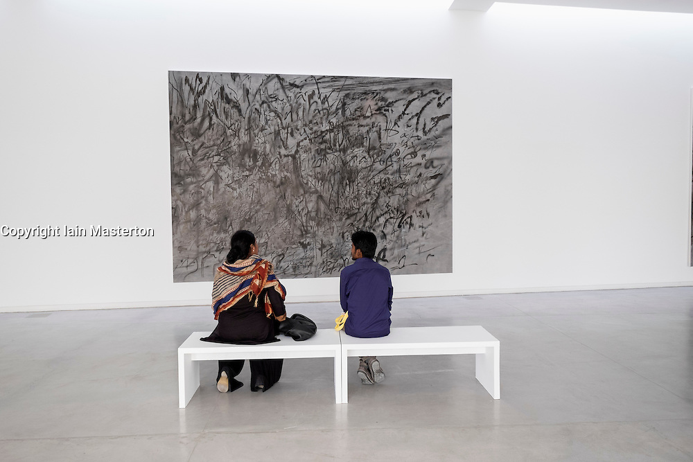 art installations by Julie Mehretu at 2015 Sharjah Biennial art festival in Sharjah united Arab Emirates