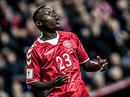FOOTBALL: Pione Sisto (Denmark) after missing a shot at goal during the World Cup 2018 UEFA Qualifier Group E match between Denmark and Romania at Parken Stadium on October 8, 2017 in Copenhagen, Denmark. Photo by: Claus Birch / ClausBirch.dk.