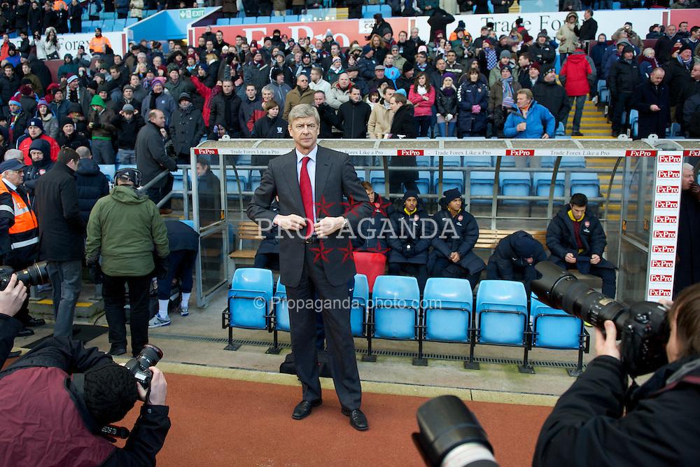 BIRMINGHAM, ENGLAND - Saturday, November 27, 2010: Arsenal's manager Arsene Wenger before the Premiership match against Aston Villa at Villa Park. (Pic by: David Rawcliffe/Propaganda)
