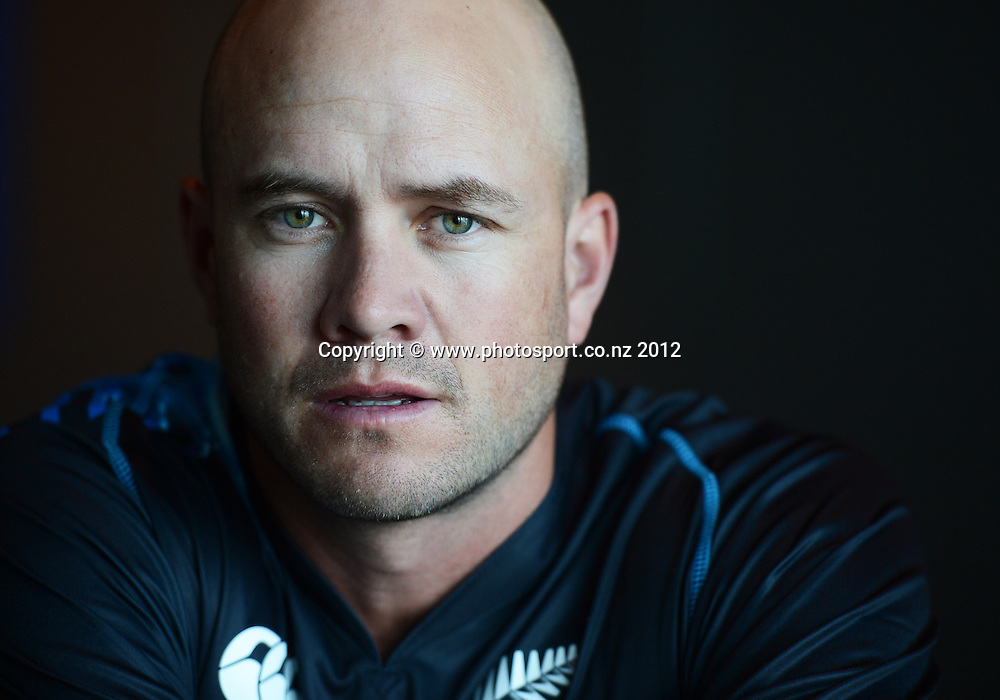 Peter Fulton, New Zealand Black Caps photoshoot and portrait / headshots session. International Cricket. Novotel Hotel, Auckland. 12 December 2012. Photo: Andrew Cornaga/photosport.co.nz