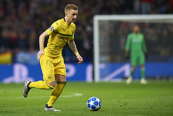 November 6, 2018 - Madrid, Spain - Marco Reus of Borussia Dortmund controls the ball during the Group A match of the UEFA Champions League between Atletico de Madrid and Borussia Dortmund at Wanda Metropolitano Stadium, Madrid on November 06 of 2018. (Credit Image: © Jose Breton/NurPhoto via ZUMA Press)