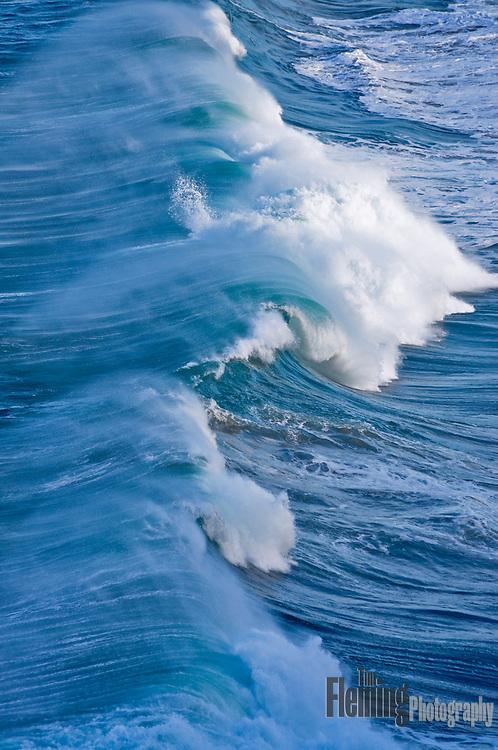 Powerful ocean waves come ashore near Puerto Vallarta, Mexico