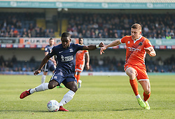 Dru Yearwood of Southend United crosses the ball - Mandatory by-line: Arron Gent/JMP - 30/03/2019 - FOOTBALL - Roots Hall - Southend-on-Sea, England - Southend United v Shrewsbury Town - Sky Bet League One