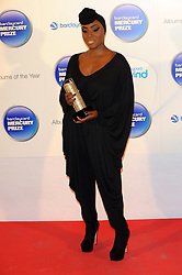 Mercury Prize. <br /> Laura Mvula attends the Barclaycard Mercury Prize at The Roundhouse, London, United Kingdom. Wednesday, 30th October 2013. Picture by Chris Joseph / i-Images