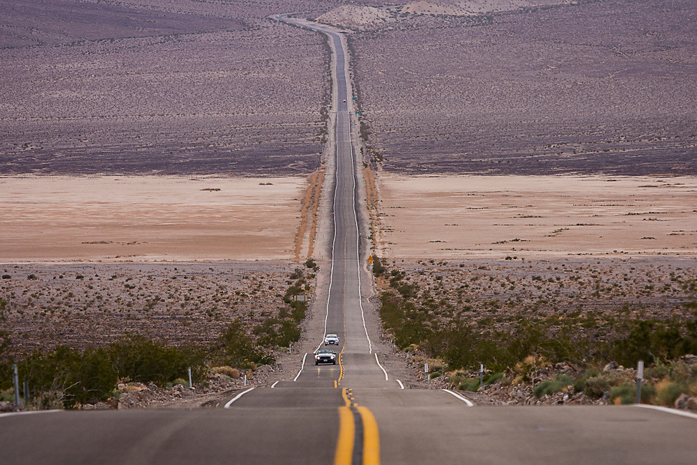 Desert road from Death Valley to Lone Pine