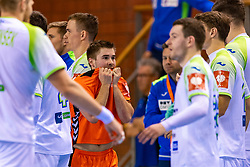 11-04-2019 NED: Netherlands - Slovenia, Almere<br /> Third match 2020 men European Championship Qualifiers in Topsportcentrum in Almere. Slovenia win 26-27 / Luc Steins #12 of Netherlands