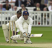 .Sport - Cricket - 22/06/02.Photo Peter Spurrier.Benson & Hedges - Final Lords Essex vs Warwickshire.Andy Flower with a reverse sweep [Mandatory Credit: Peter Spurrier:Intersport Images]