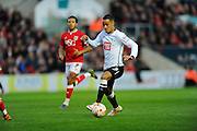 Derby County midfielder Thomas Ince during the Sky Bet Championship match between Bristol City and Derby County at Ashton Gate, Bristol, England on 19 April 2016. Photo by Graham Hunt.