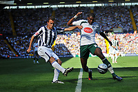 Photo: Tony Oudot/Richard Lane Photography. West Bromwich Albion v Plymouth Argyle. Coca Cola Championship. 12/09/2009. <br /> Roman Bednar of WBA gets in a shot at goal past Reda Johnson of Plymouth