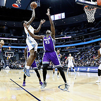 06 March 2017: Denver Nuggets guard Will Barton (5) goes for the jump shot over Sacramento Kings forward Anthony Tolliver (43) during the Denver Nuggets 108-96 victory over the Sacramento Kings, at the Pepsi Center, Denver, Colorado, USA.