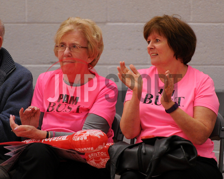 Members of BUST at the Bristol Flyers game - Photo mandatory by-line: Paul Knight/JMP - Mobile: 07966 386802 - 10/10/2015 - BASKETBALL - SGS Wise Arena - Bristol, England - Bristol Flyers v Newcastle Eagles - British Basketball League