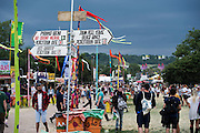 Storm clouds gather. The 2014 Glastonbury Festival, Worthy Farm, Glastonbury. 26 June 2013.  Guy Bell, 07771 786236, guy@gbphotos.com