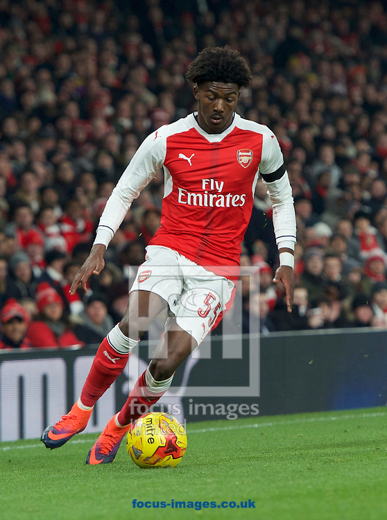 Ainsley Maitland-Niles of Arsenal during the EFL Cup match at the Emirates Stadium, London<br /> Picture by Alan Stanford/Focus Images Ltd +44 7915 056117<br /> 30/11/2016
