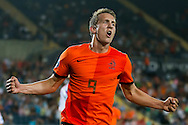 JERUSALEM, Jong Nederland - Jong Rusland, Europees Kampioenschap EK 2013 Israel voor Jongeren onder 21, 09-06-2013, Teddy Stadium, Jong Nederland speler Luuk de Jong heeft de 2-0 gescoord.