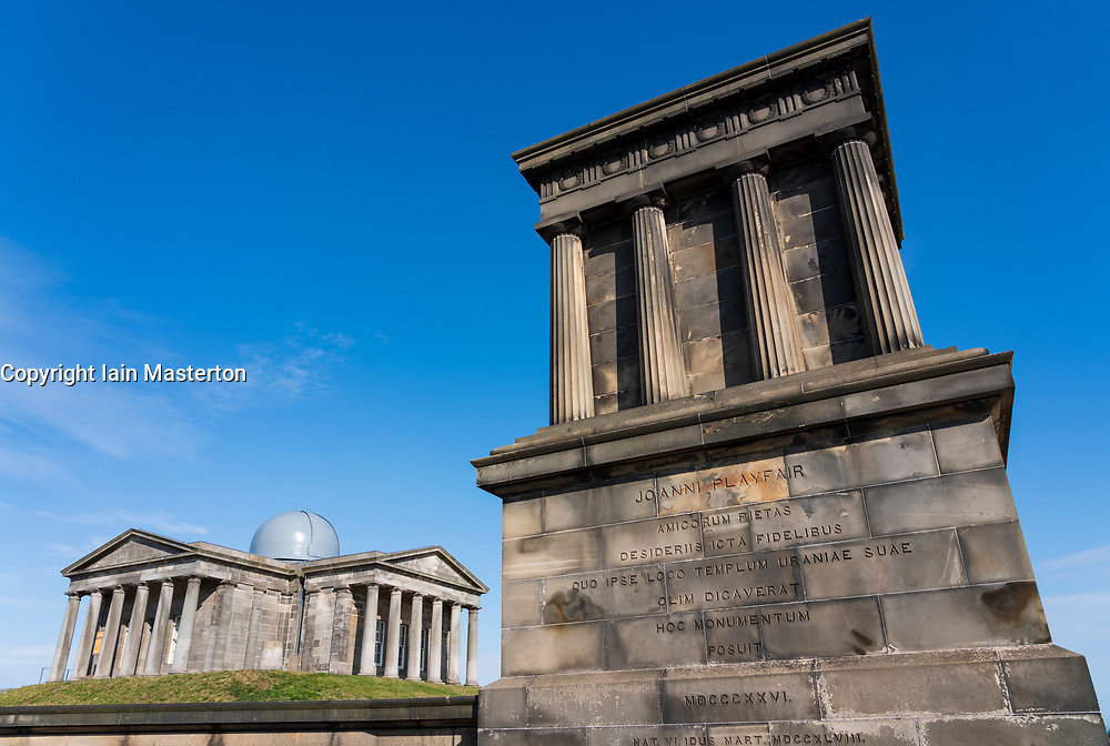 The new Collective arts centre at the  former City Observatory and Playfair Monument on Calton Hill in Edinburgh, Scotland, UK