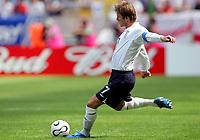 FRANKFURT,DEUTSCHLAND,10.JUN.06 - FUSSBALL - FIFA Weltmeisterschaft 2006, England vs Paraguay  , ENG vs PAR. Bild zeigt David Beckham (ENG). .  Foto: Digitalsport<br /> <br /> Norway only