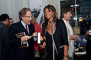 EARL OF MARCH; DEBBIE VON BISMARCK; DANNY MOYNIHAN, Henry Porter hosts a launch for Songs of Blood and Sword by Fatima Bhutto. The Artesian at the Langham London. Portland Place. 15 April 2010. *** Local Caption *** -DO NOT ARCHIVE-© Copyright Photograph by Dafydd Jones. 248 Clapham Rd. London SW9 0PZ. Tel 0207 820 0771. www.dafjones.com.<br /> EARL OF MARCH; DEBBIE VON BISMARCK; DANNY MOYNIHAN, Henry Porter hosts a launch for Songs of Blood and Sword by Fatima Bhutto. The Artesian at the Langham London. Portland Place. 15 April 2010.