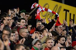 Bristol City fans celebrate at full time. - Photo mandatory by-line: Alex James/JMP - Mobile: 07966 386802 - 10/03/2015 - SPORT - Football - Yeovil - Huish Park - Yeovil Town v Bristol City - Sky Bet League One