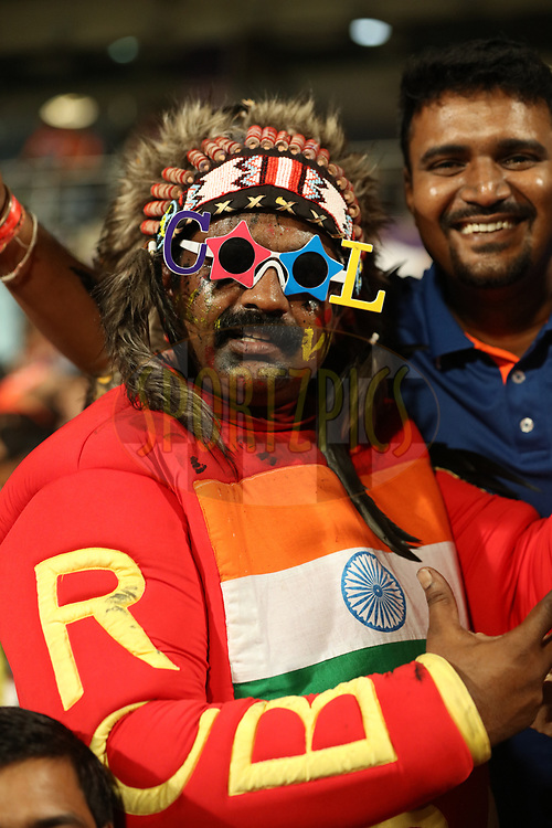 Fans during match 27 of the Vivo 2017 Indian Premier League between the Kolkata Knight Riders and the Royal Challengers Bangalore  held at the Eden Gardens Stadium in Kolkata, India on the 23rd April 2017<br /> <br /> Photo by Saikat Das - Sportzpics - IPL
