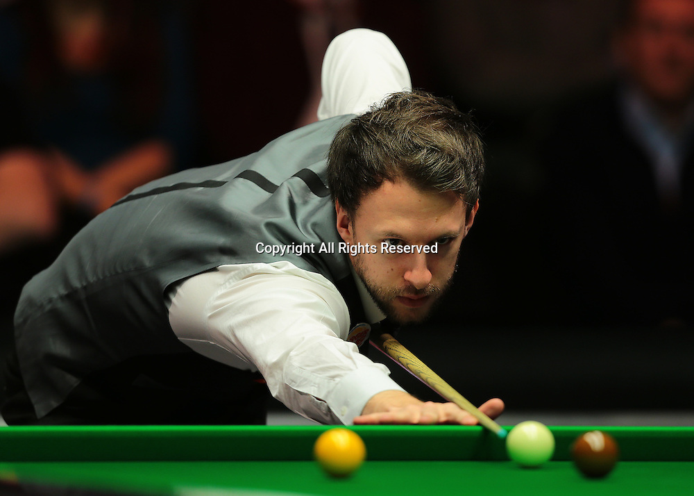16.01.2016.  Alexandra Palace, London, England. Masters Snooker. Semi Finals. Judd Trump during frame four