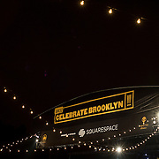 June 4, 2014 - New York, NY : Celebrate Brooklyn! held it's opening night gala & concert in Prospect Park on Wednesday night. Pictured here, the top of the stage after the show.<br /> CREDIT: Karsten Moran for The New York Times