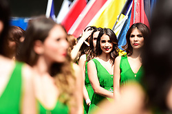 Formel 1: GP von Mexiko 2016 - Rennen in Mexiko-Stadt / 301016<br /> <br /> ***Grid girls on the drivers parade.<br /> 30.10.2016. Formula 1 World Championship, Rd 19, Mexican Grand Prix, Mexico City, Mexico, Race Day.<br />  Copyright: Price / XPB Images / action press ***