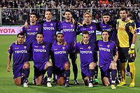 """Fiorentina team line up<br /> Adrian Mutu, Alessandro Gamberini, Massimo Gobbi, Marco Donadel, Tomas Ujfalusi, Sebastien Frey<br /> Mario Alberto Santana, Giampaolo Pazzini, Fabio Liverani, Martin Jorgensen, Riccardo Montolivo<br /> Firenze 1/5/2008 Stadio """"Artemio Franchi"""" <br /> Uefa Cup 2007/2008 Semifinals - Semifinale second Leg<br /> Fiorentina Rangers Glasgow (0-0) (2-4 a.p.)<br /> Foto Andrea Staccioli Insidefoto"""