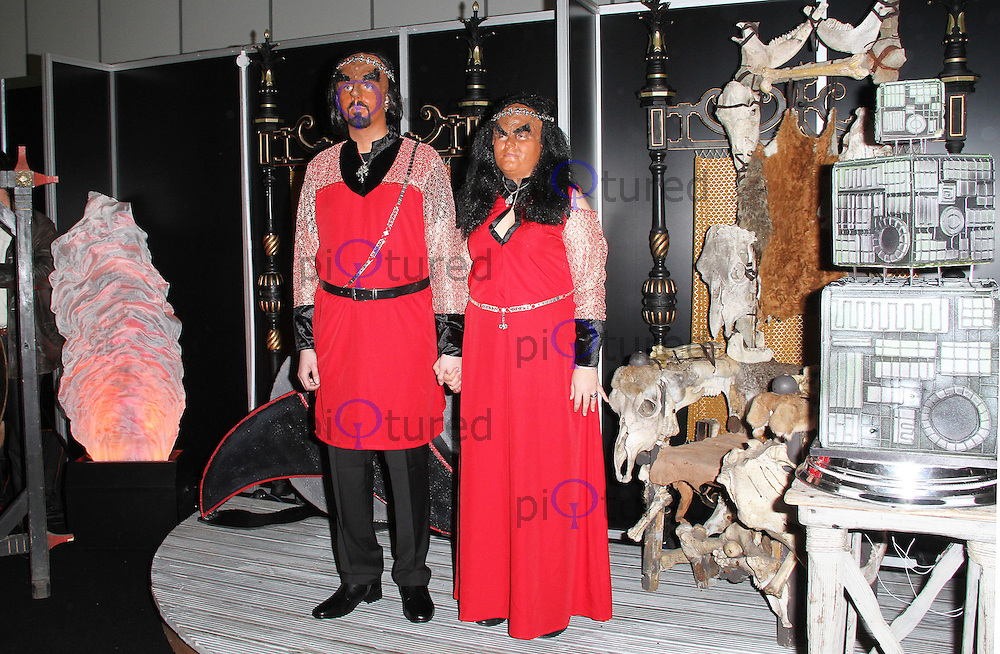 LONDON - OCTOBER 19:  Jossie Sockertopp and Sonnie Gustavsson married in full Klingon costume at 'Destination Star Trek London' at the ExCel Centre London, UK, October 19, 2012. (Photo by Richard Goldschmidt)