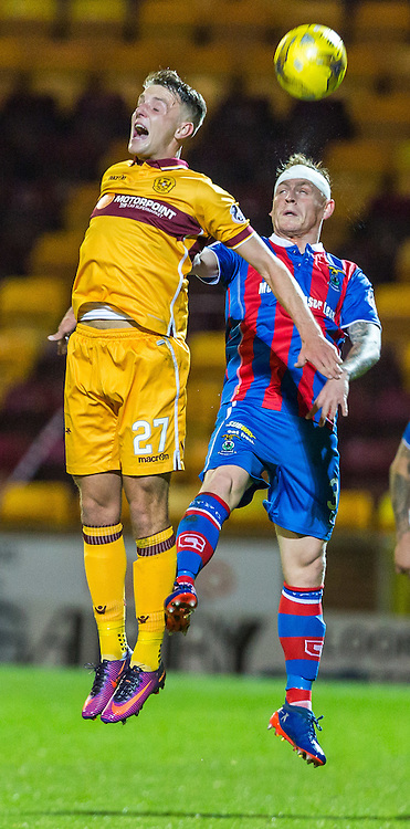 Ross MacLean and Carl Tremarco in action during the match between Motherwell and Inverness Caledonia Thistle (c) ROSS EAGLESHAM | Sportpix.co.uk