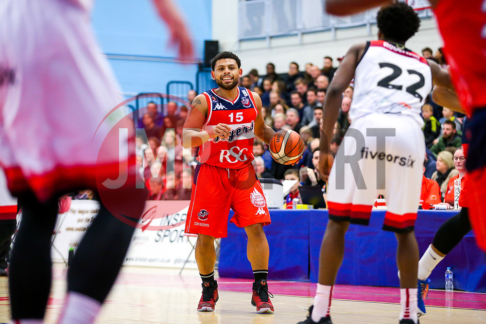 Jordan Davies of Bristol Flyers - Rogan/JMP - 01/12/2017 - BASKETBALL - SGS Wise Arena - Bristol, England. - Bristol Flyers v Leicester Riders - British Basketball League.