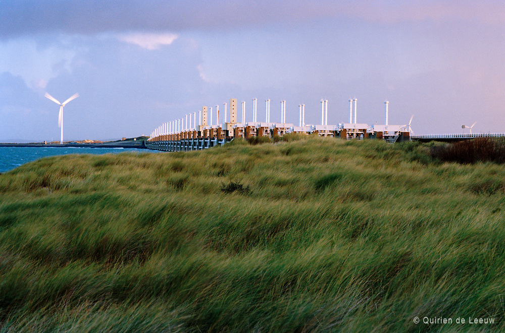Oosterschelde barrier. Part of the Delta Works water protection system