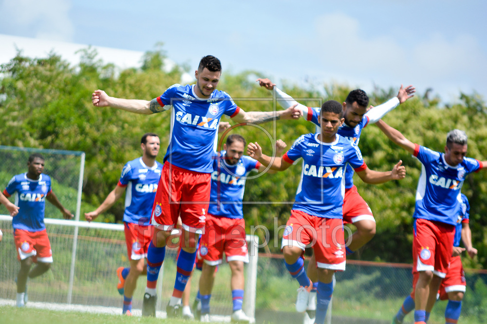Treino do elenco do Esporte Clube Bahia, realizado nesse sábado (07), no Fazendão. Foto: Marcelo Malaquias/Framephoto
