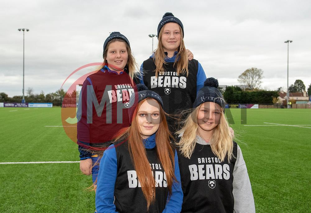 Bristol Bears Women ball technicians from Clevedon RFC - Mandatory by-line: Paul Knight/JMP - 03/11/2018 - RUGBY - Shaftesbury Park - Bristol, England - Bristol Bears Women v Saracens Women - Tyrrells Premier 15s