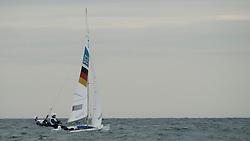 2012 Olympic Games London / Weymouth<br /> 470 Training race<br /> Follmann Patrick, Gerz Ferdinand, (GER, 470 Men)
