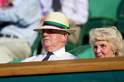 LONDON, ENGLAND - Thursday, June 25, 2009: Former Wimbledon Referee Alan Mills watches the Gentlemen's Singles 2nd Round match on day four of the Wimbledon Lawn Tennis Championships at the All England Lawn Tennis and Croquet Club. (Pic by David Rawcliffe/Propaganda)