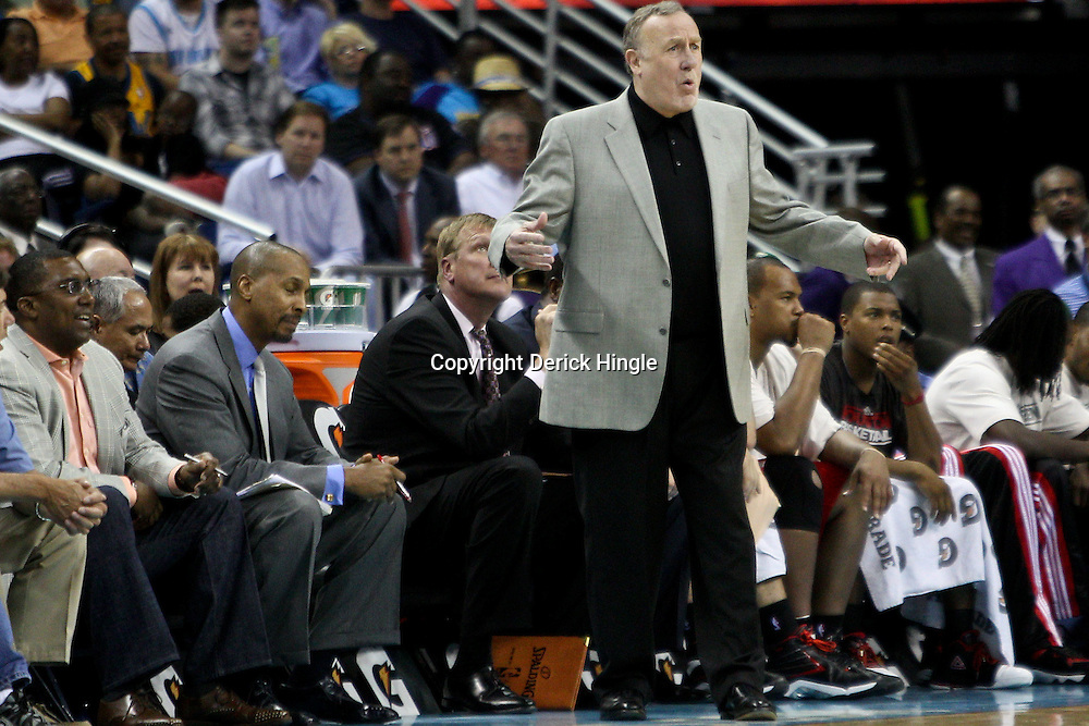 April 6, 2011; New Orleans, LA, USA; Houston Rockets head coach Rick Adelman against the New Orleans Hornets during the second half at the New Orleans Arena. The Hornets defeated the Rockets 101-93 and clinched a playoff spot with the victory.   Mandatory Credit: Derick E. Hingle-US PRESSWIRE