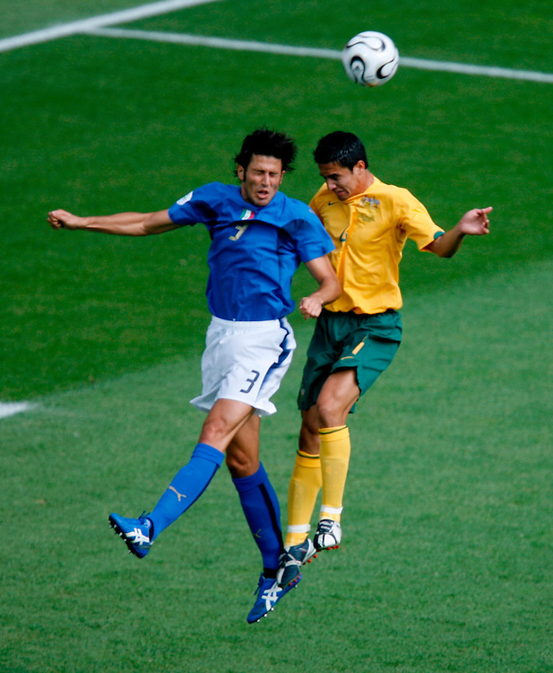 KAISERSLAUTERN, GERMANY - JUNE 26 , 2006.#3 Fabio Grosso of Italy during a round of 16 match of the 2006 World Cup, played between Italy and Austrailia at the Fritz-Walter-Stadion in Kaiserslautern, Germany.