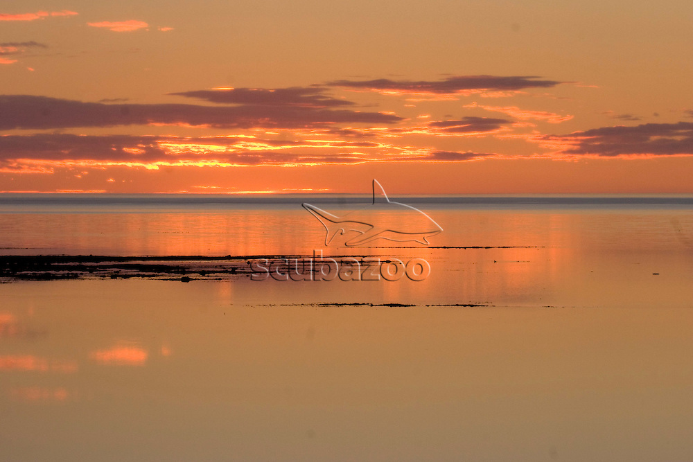 Sunrise over lake, Great Ocean Adventures Shoot, Churchill, Manitoba, Canada.